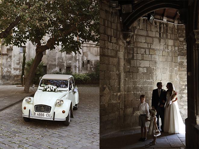 Fotógrafo boda Barcelona, santos costura, masia egara, iglésia santa anna, bodas de ensueño, novia pelo suelto